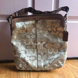 Blonde C initial Coach purse - like new